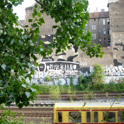 Berlinprenzlauerbergsummereveningtraintracks